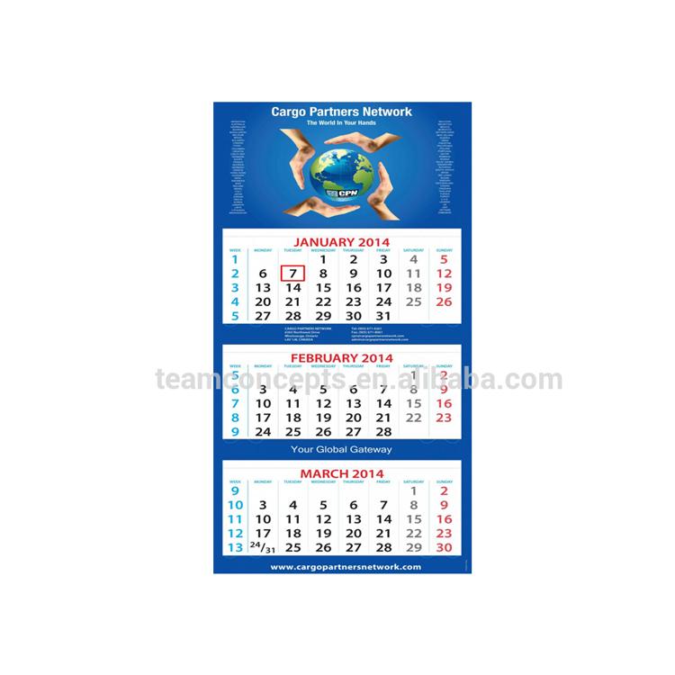 932278a762c41 3 الشهر جدار التقويم لتعزيز هدية
