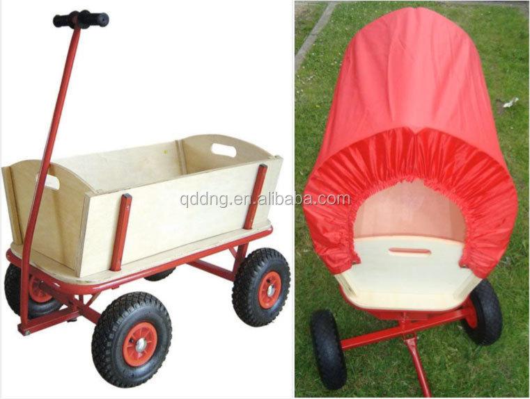 Wooden Garden Cart Kid Wagon With Wood Panels Tc1812