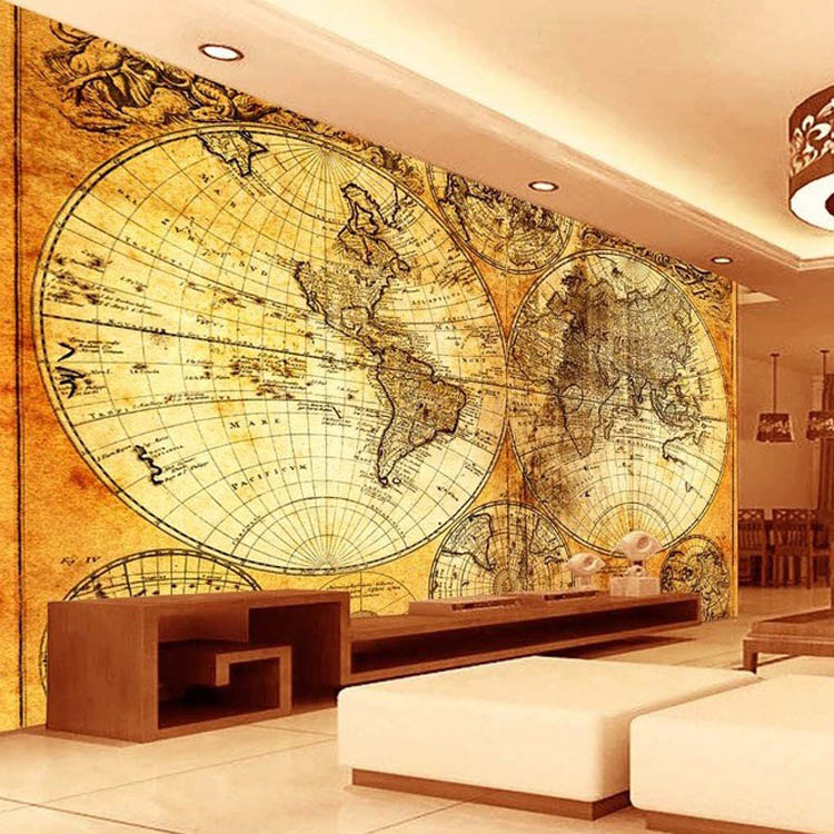 Wholesale Interesting And Helpful Wall Wallpaper World Map Design ...