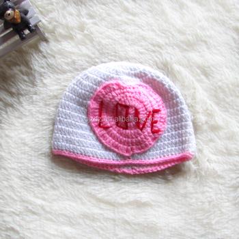 милый ребенок вязаная крючком зимняя шапка младенец новорожденный