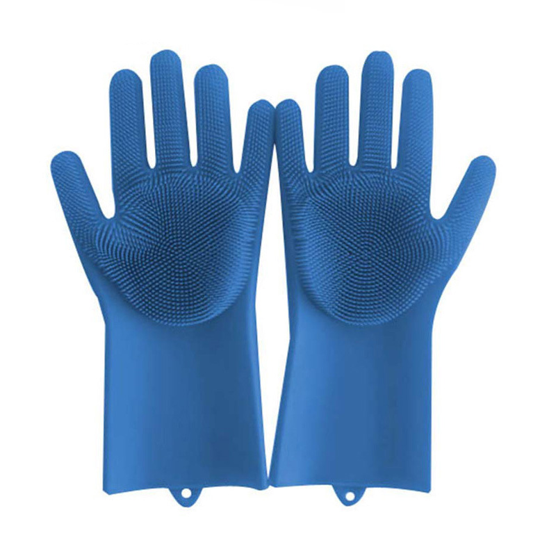 Durable and cheap Magic Saksak Heat Resistant Silicone cleaning Gloves for washing