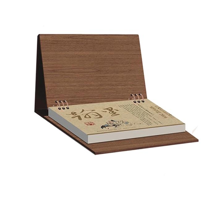 Special Shape Environmental Wooden Perpetual Desk Calendar