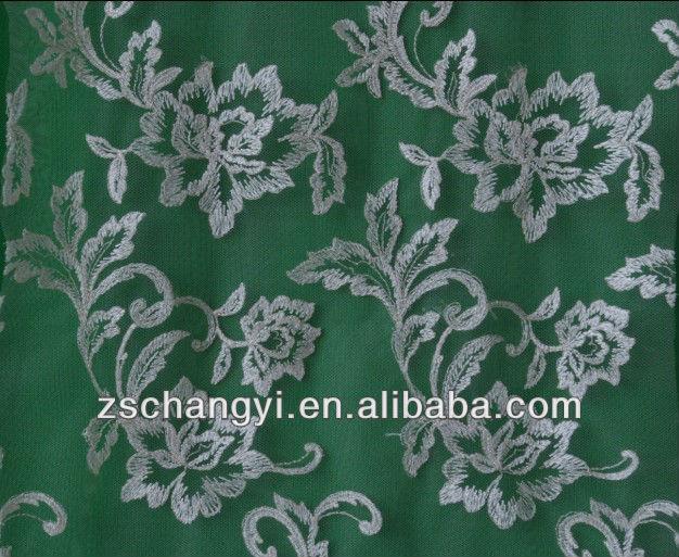 Allover Scalloped Edge Embroidery Design Lace Fabric