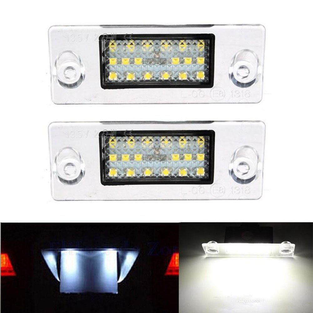 Get Quotations · Car LED Number License Plate Light Lamp For Audi A4 B5 S5  B5 A3 S3 S4
