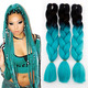 Aliexpress hot sell 100g synthetic hair ombre color jumbo braiding hair