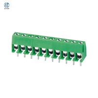 KF350-3.5-2P 3P 3.5MM pitch straight pin pcb screw terminal block connector 2PIN 3PIN green ST350 3.5 2P