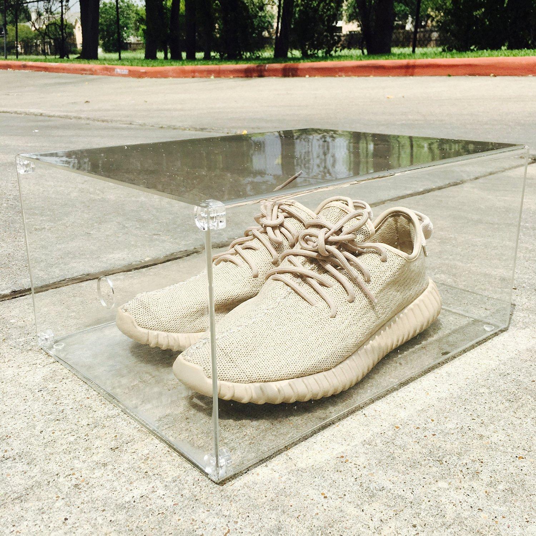 Buy Luxury Sneaker Display Box With Magnet Drop Front Door 100