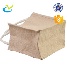 Wholesale promotional cheap eco-friendly popular printed natural plain handmade jute bag