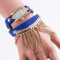 2015 Promotional leather wristband watch cheap watches wholesale bulk