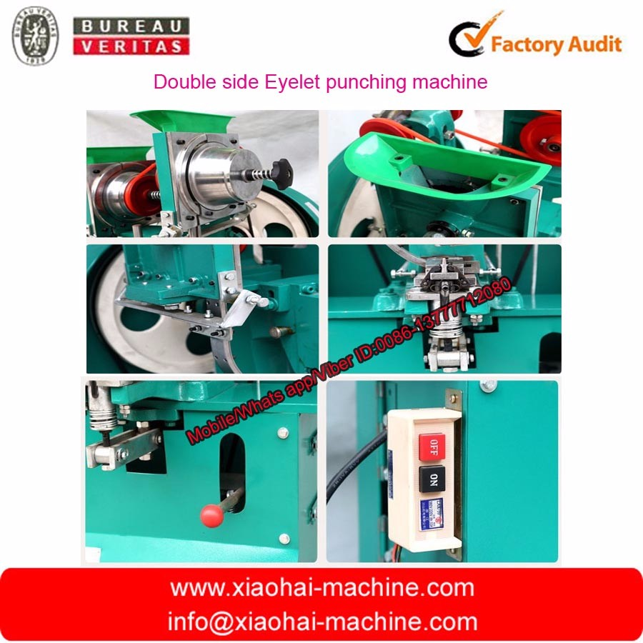 double side automatic eyelet punching machine