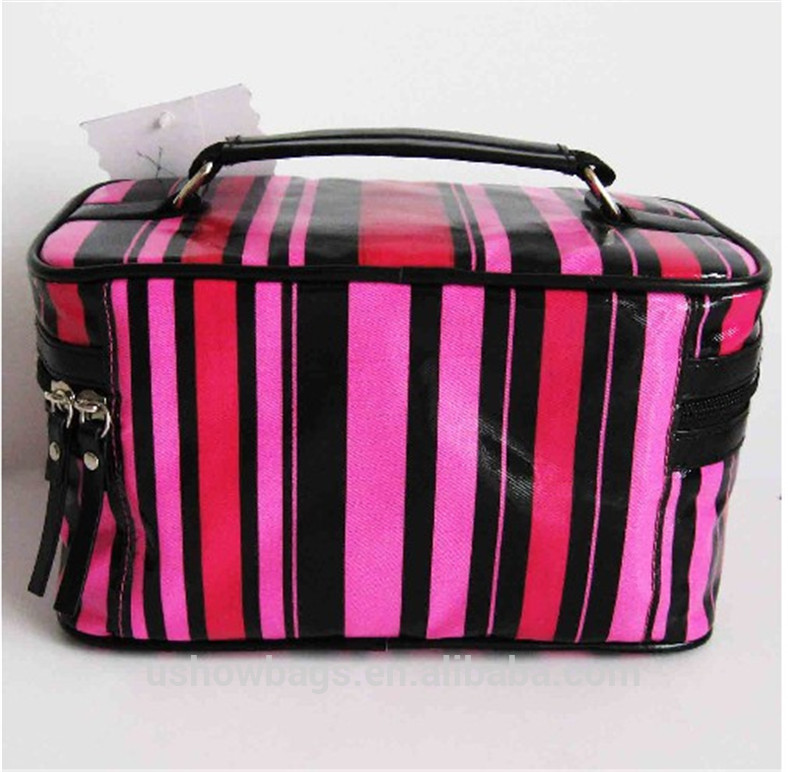 korean travel luggage bags promotional modella cosmetic bag and cases for women pvc cosmetics handle bag