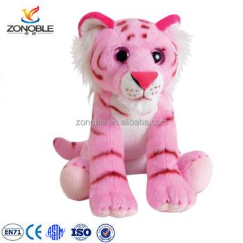 2016 Cute Kids Toy Soft Tiger Plush Toy Cuddly Plush Pink Stuffed