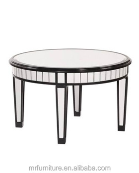 Round Mirrored Coffee Table In Black Wooden Rimming Buy Mirrored Round Coffee Tablesmirrored Accent Tablewooden Rimming Mirrored Coffee Table