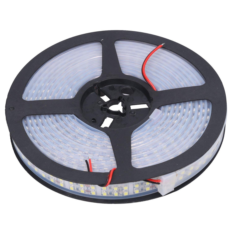 NEWSTYLE 16.4Ft 5M Double Row 3528 Cool White LED Strip 240Leds/M Light Tube 1200 LEDs Flexible Strip Light IP67 Waterproof 12V