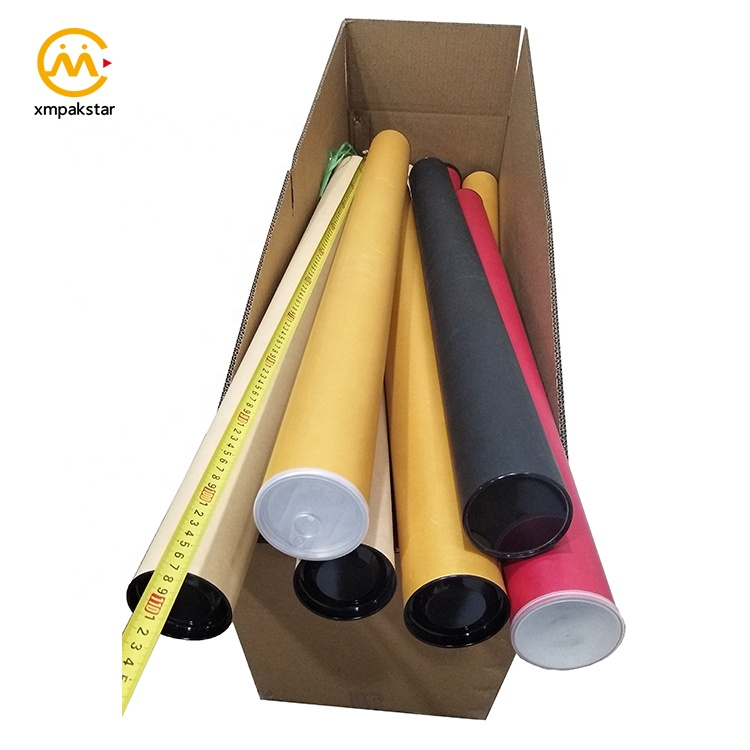 Wholesale custom cardboard packaging large diameter mail paper tube for table mat