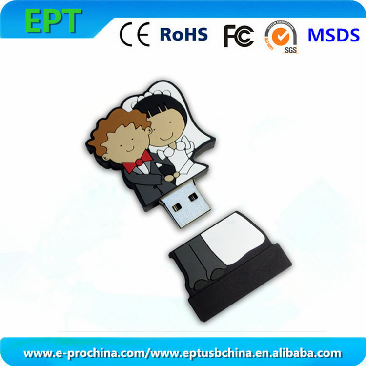 High Quality Promotion Gift Pen Drive Wedding Flash Favors Usb