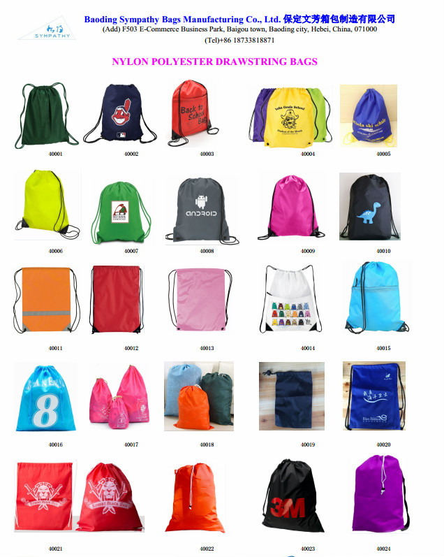 Cute 201d Nylon Drawstring Bags / Backpacks For Kids - Buy Cute ...