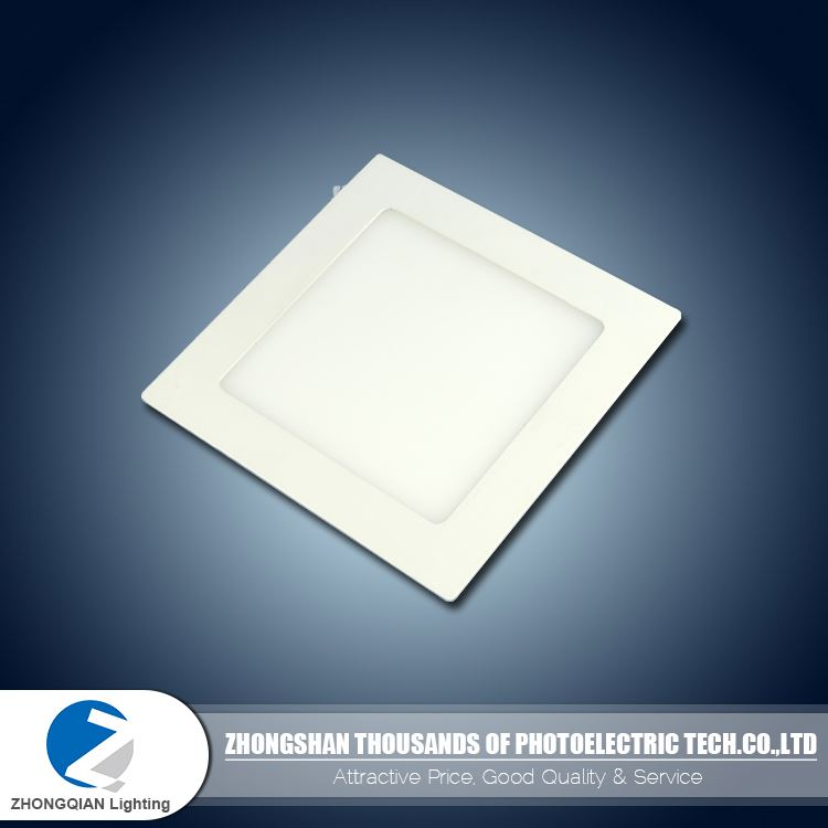 Secure 45lm/w 6W 85mm to 300mm PC square ultra thin led panel light