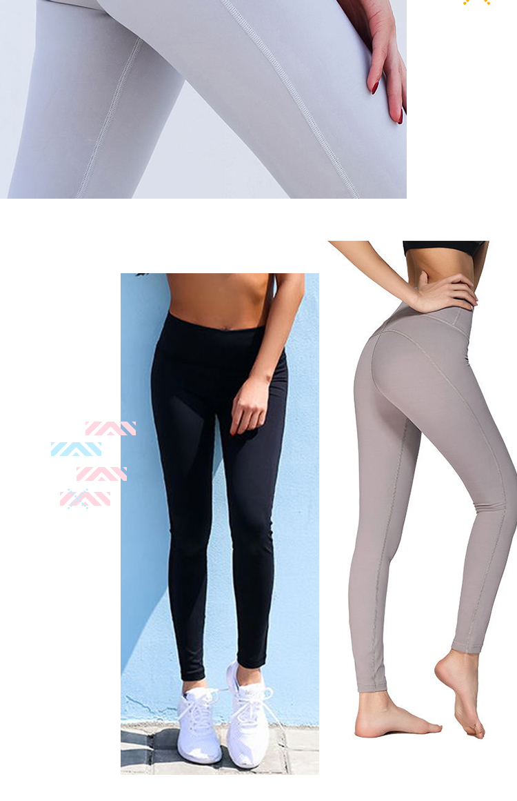 Custom logo sports wear yoga pants nylon spandex high quality