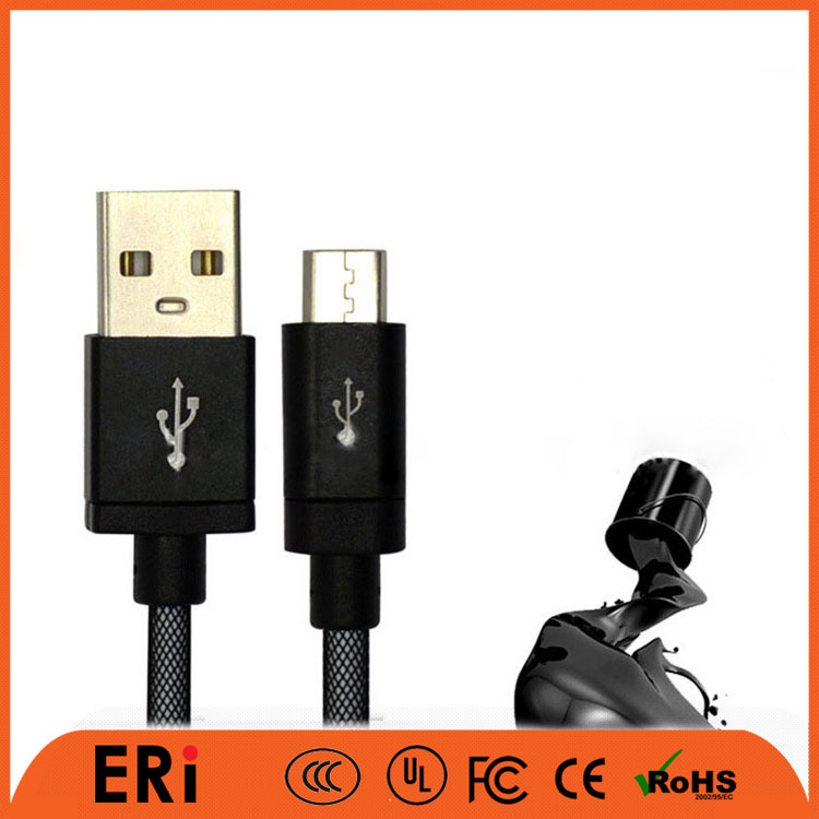 magnetic usb cable colorful micro braided usb cable with protective sleeve