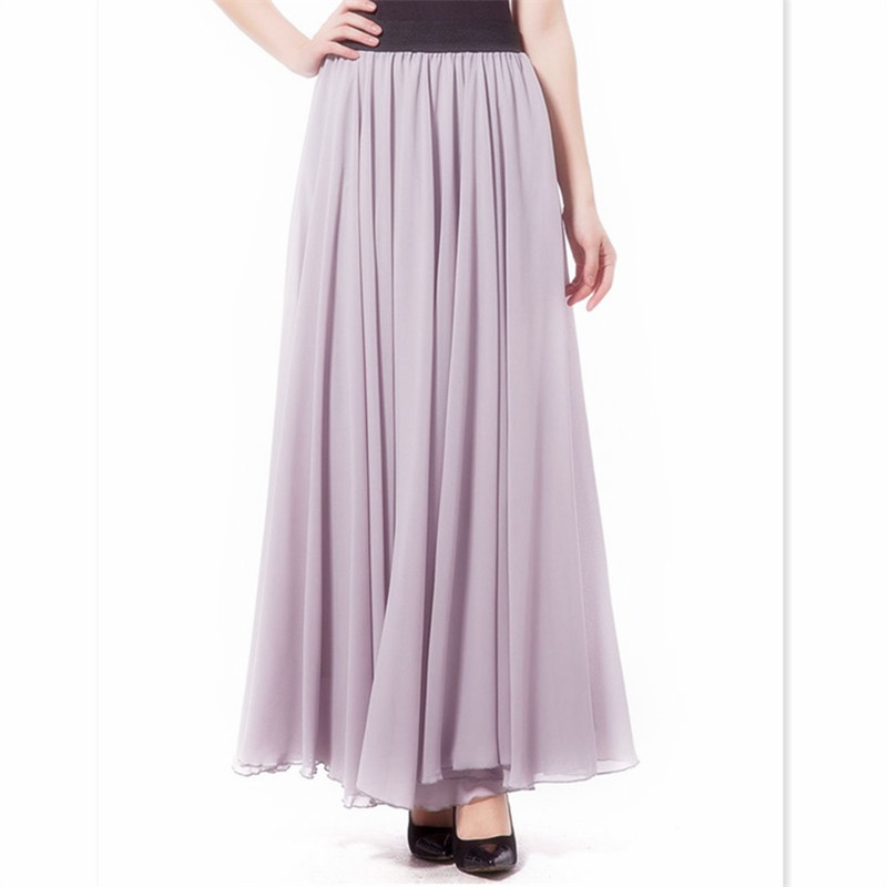 997847b8524 Get Quotations · Woman Skirts Autumn Summer Style 2015 High Waist Long Maxi  Chiffon Black England Style A-