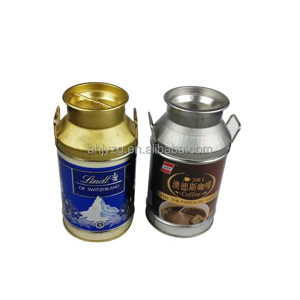 coffee cup shaped metal coffee box for coffee packaging