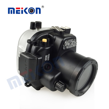 Two years warranty polycarbonate 18-55MM camera waterproof case for canon 600d