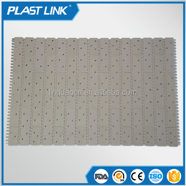Plast Link 900 Sideflexing plastic conveyor modular belt for slaughter line and packaging