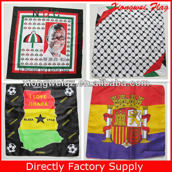 promotion custom designs polyester square bandana