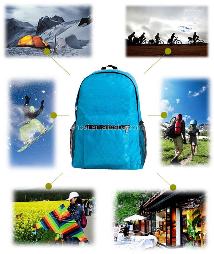 Encai New Arrival Sports Folding Backpack Waterproof Nylon High Quality Packsack Colourful Knapsack Wholesale