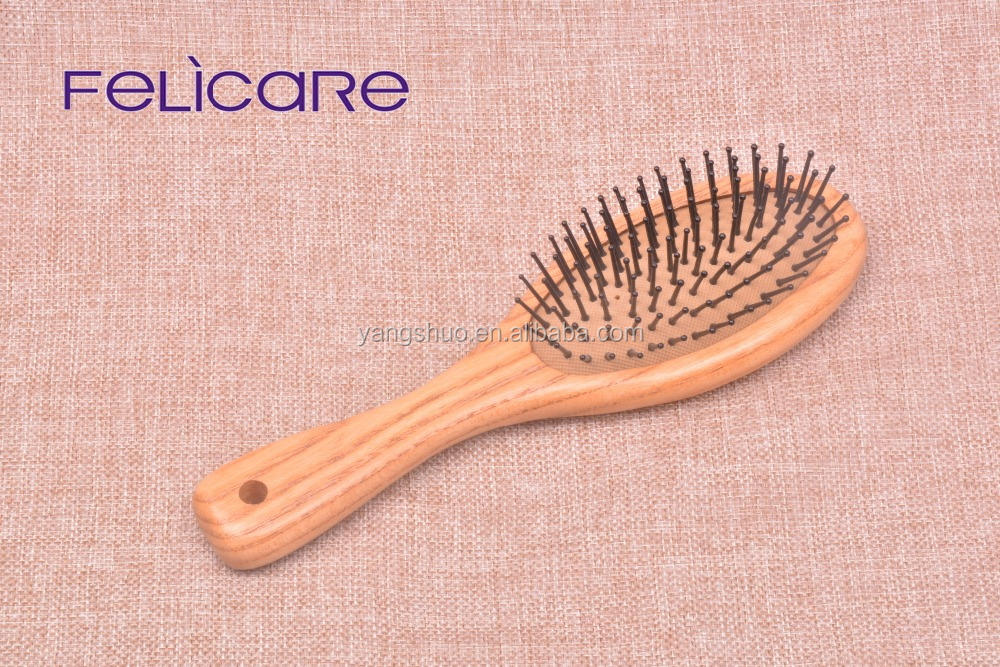 Natural color baby hair brush for bath curly hair firm