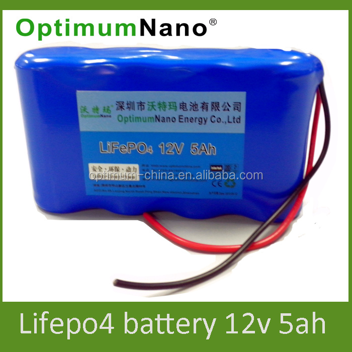 Rechargeable battery 12v 5ah lithium ion battery for LED light