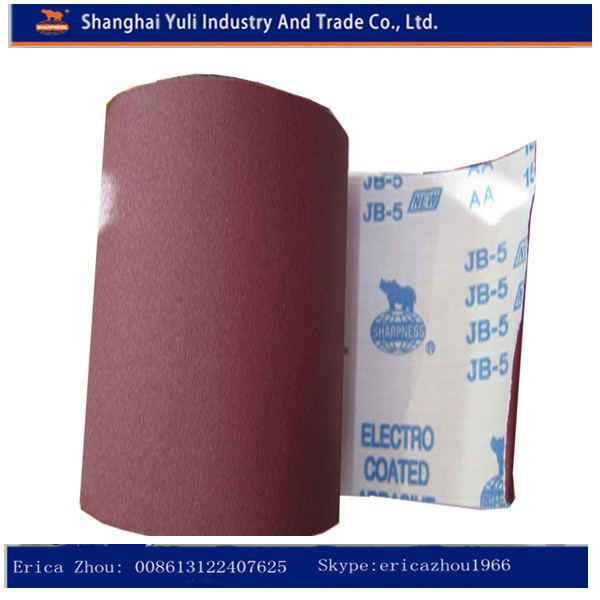 abrasive emery cloth/sharpness sanding cloth roll for wood