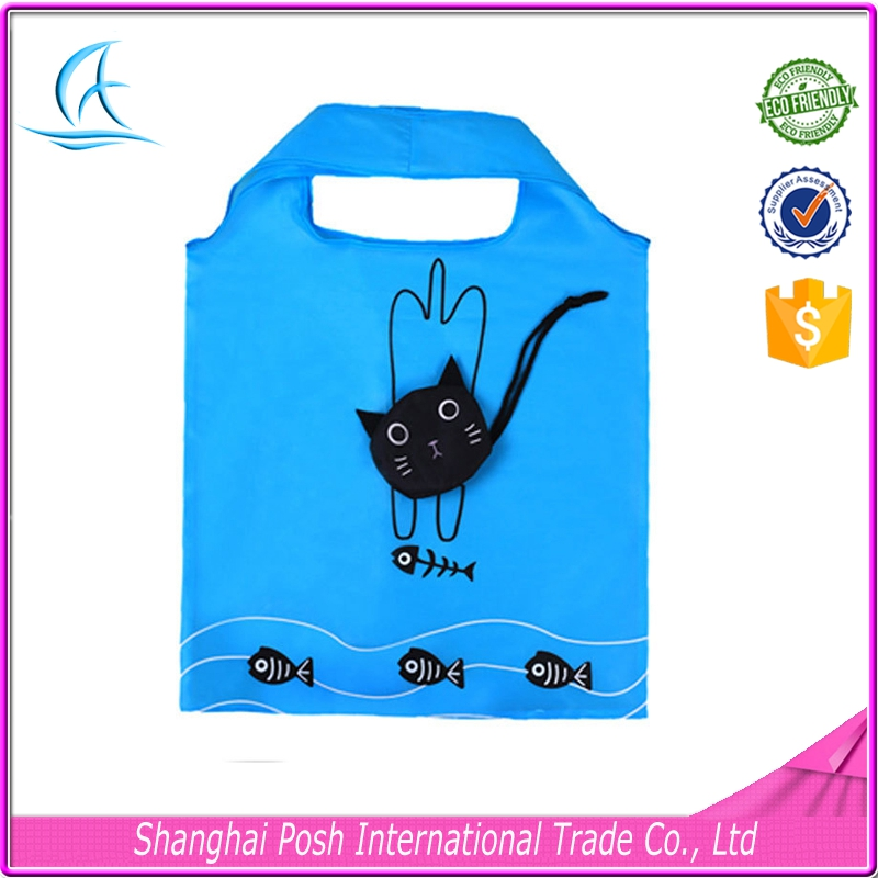 Trendy Foldable Reusable Polyester Shopping Bag