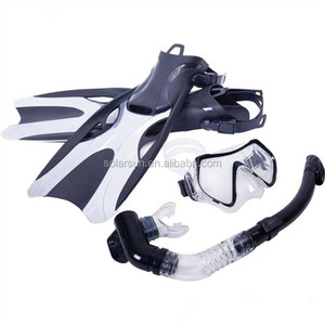 2018 New Diver Mask Diving Equipment Scuba Snorkeling Gear Swimming Glasses Diving Fins Combo Sets