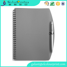 Best quality Plastic coil binding executive A5 notebook with custom embossed logo
