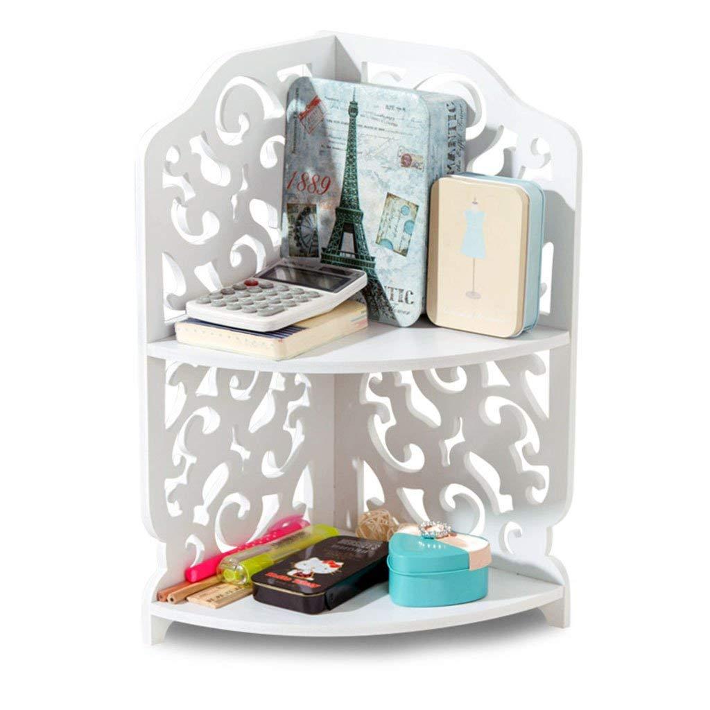 Li Na Home Bookcases Desktop triangle shelf Kitchen rack Bathroom Bathroom Countertops Multilayer Cosmetic Shelf Bookshelf shelf Calculator Pen holder Shelf (Color : White, Size : Height: 40cm)