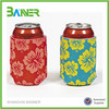 Promotion customized foldable printing Neoprene Beer Can Holder