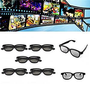 5 Pcs Passive Polarized 3D Glasses For Panasonic LG Sony Samsung 3D TVs Monitor 3D Film Movie