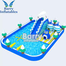 Giant Aqua Inflatable Water Park , Children Big Inflatable Water Slides park