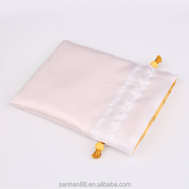 Beautiful jewelry pouches, small satin drawstring gift bag