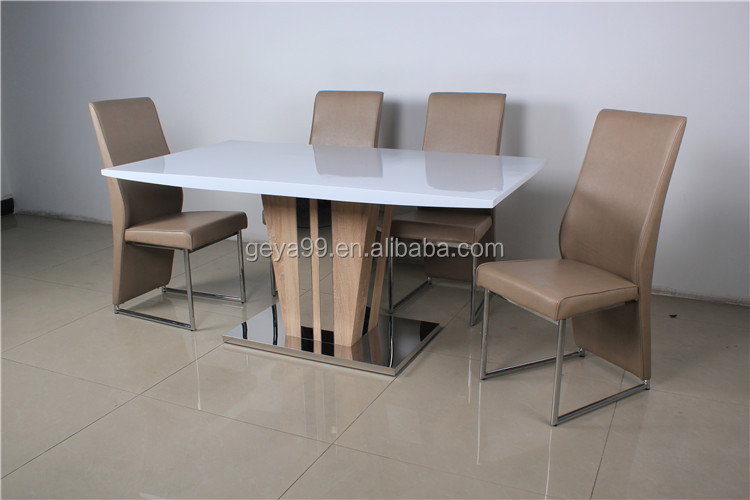 Moderne luxe houten meubelen persoons eettafel en stoel te koop