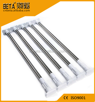 Stainless Steel Bathroom Corner Shower Curtain Rod F102