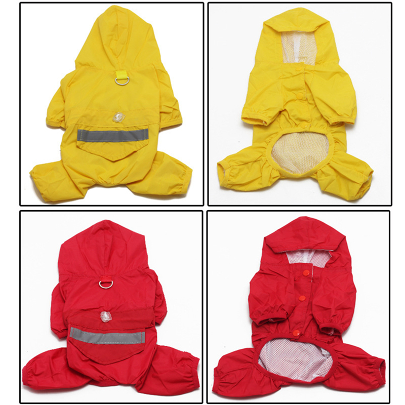 Hot Products For United States 2016 Yellow Cat Dog Rain Slicker Pet Raincoat