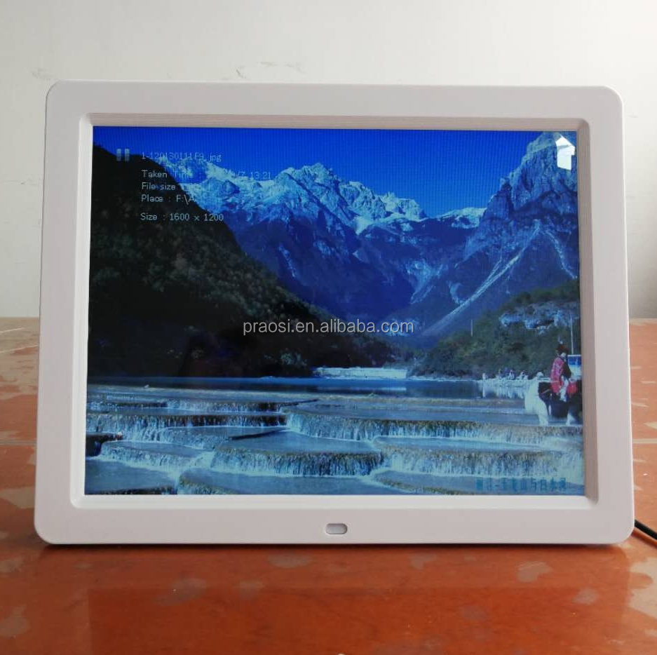 12'' lcd led advertising display with motion sensor wifi android touch screen optional