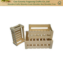 Natural Plain Wooden Crate for Fruit, Wine and Display Goods