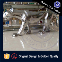 Interior design decorative stainless steel wall art sculpture