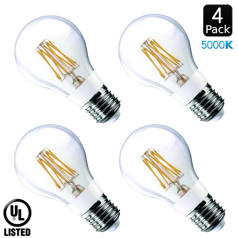 Luxrite Lr21248 4 Pack 7 Watt Edison Led Filament Light Bulb