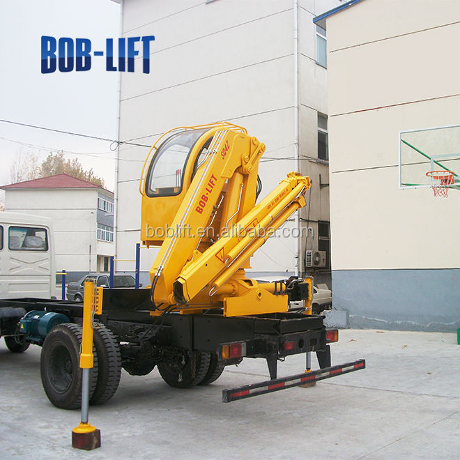Small Knuckle Boom Crane : Knuckle boom truck crane mini log trailer with tons