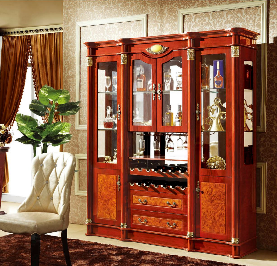 Living Room Display Cabinets Home Furniture Living Room Glass Door Liquor Wine Display Cabinet